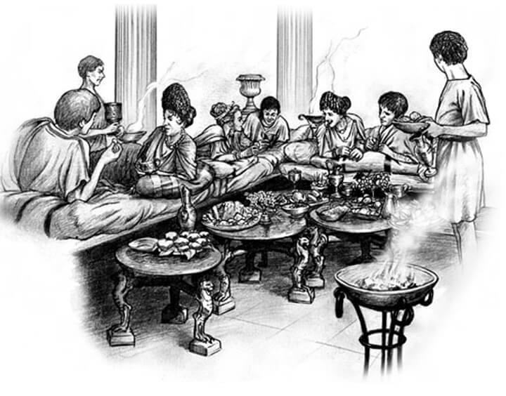 Le Camere Da Letto Degli Antichi Romani : Triclinium cibo e convivialità nell antica roma cucine d