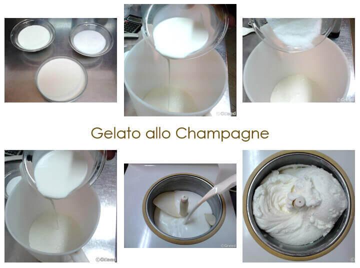 Gelato allo champagne preparazione Cucine d'Italia