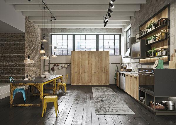 Vissuta, urbana, contemporanea: Loft, la nuova cucina Snaidero