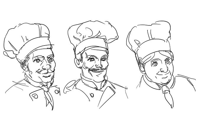 Bozzetti - cuoco