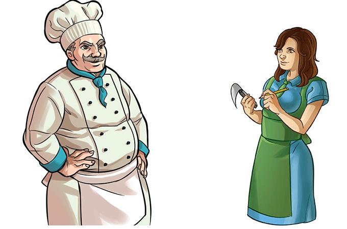 Cuoco e cameriera