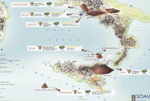 Cartina Italia Con Vulcani.L Esplosione Del Sud Cucine D Italia
