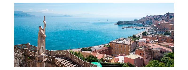 Il Golfo di Gaeta visto dal sagrato del Tempio di San Francesco