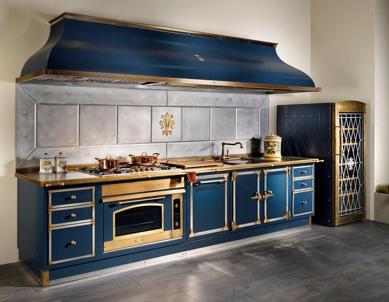 officine gullo blu profondo cucina