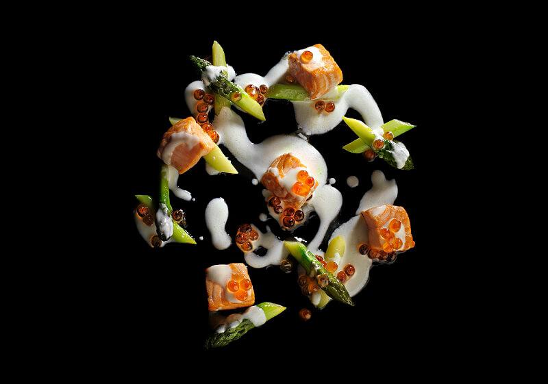 ristorante marchesi alla scala Dadolata di salmone con le sue uova © Coimbra