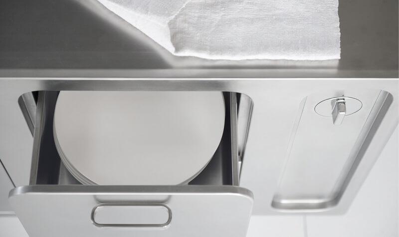 Cucina refrigerante e riscaldante Abimis