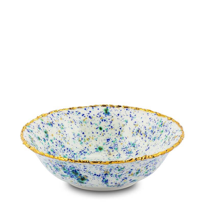 Coralla Maiuri Piazza Del Popolo_Blue Marble_salad bowl