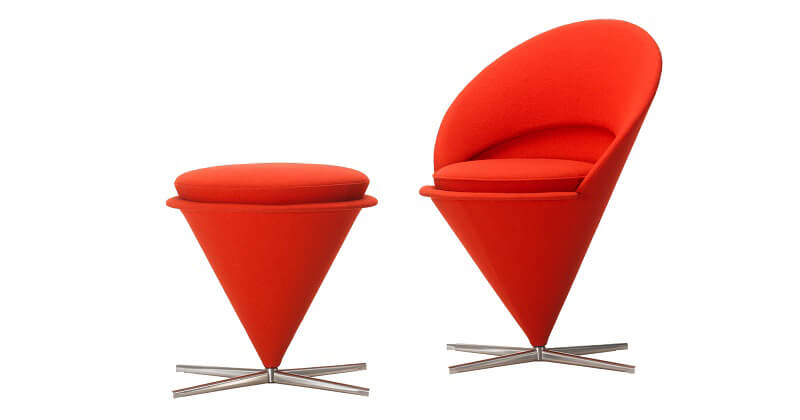 Rosso Natale Cone Chair Vitra